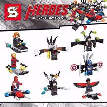 Kit Capitão América Guerra Civil Similar Lego Marvel Heróis