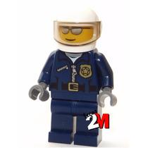 Lego Boneco Original Policial Capacete - City - Frete R$5,00