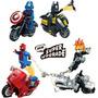 Lego Motoqueiro Fantasma Batman Spider Man Capitão América