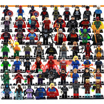 Minifiguras Marvel Vingadores Dc Deadpool Lego Kit Com 5