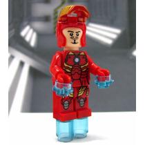 Homem De Ferro Marvel Iron Man Lego Playmobil Bloco D Montar
