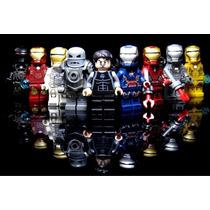 Kit 9 Pçs Homem De Ferro Tony Stark Bloco De Montar Vingador