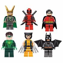 Kit Batman, Deadpool, Lanterna Verde, Robin, Wolverine, Loki