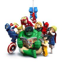 Bonecos Marvel Lego Hulk Thor Capitão América E Outros