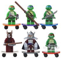 Kit 6 Tartarugas Ninjas - Lego Compatível - Sem Juros!!!