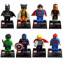 Lego Super Heroes Batman Wolverine Super Man, Iron Man, Hulk
