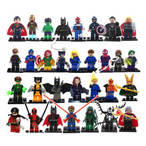 Bloco De Montar Dc Marvel Vingadores Batman Iron Man Etc
