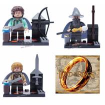 Blocos Montar Senhor Dos Anéis Hobbit Pippin Merry Gandalf