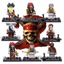 Kit 8 Bonecos Piratas Do Caribe - Pronta Entrega