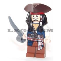 Lego Original Boneco Jack Sparrow Chapeu 2 Piratas Do Caribe