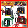 Kit 4 Armario + Iron Man Batman Flash Arqueiro Similar Lego