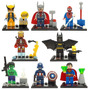 Kit Super Heroes Wolverine, Thor, Hulk, Batman , Iron Man