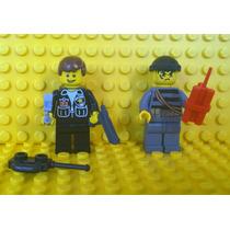 Lego City 2 Bonecos - Polícia Prende Ladrão - Frete Grátis!