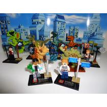 Jurassic Wold 14 Figuras = Lego Bonecos Blocos De Montar