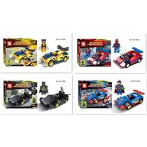 Lego Compatível Super-herói + Veículo -vem Com A Caixa