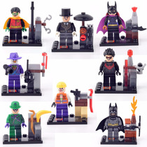 Kit 8 Mini Figuras Bonecos, Super Heroes, Batman.