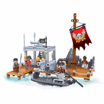 Blocos De Montar - Click It - Porto Combate Pirata 238 Peças