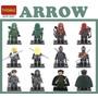 Kit Arrow Arqueiro Verde Padrão Lego Dc 6 Personagens Heróis