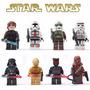 Bloco De Montar Star Wars Coleção 8 Personagens Frete Grátis