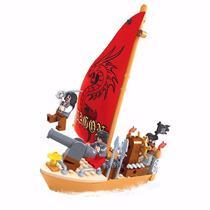 Blocos De Montar - Click It - Navio Pirata - 132 Peças