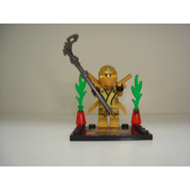 Ninja Go Lloyd C/ Katana Swords Armadura Gold = Lego Ninjago