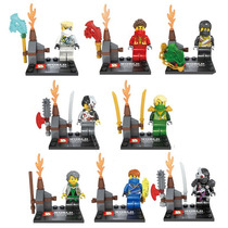 Ninjago Jay Kai Cole Borg Zane Cryptor Lioyd Garmadon = Lego