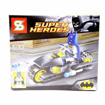 Kit Batman E Veículo Bat Moto Padrão Lego Dc Heróis