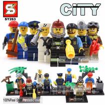 Kit 8 Bonecos Coleção City ( Profissões ) - Compativel Lego