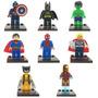 Lego Super Heroes Batman Wolverine Super Man, Iron Man, Hulk