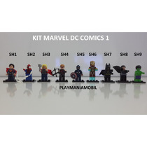 9 Minifiguras Lego Super Heroes Lote 1 Compatível Com Lego !