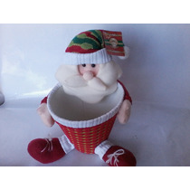 Boneco De Papai Noel Grande, Com Cestinho