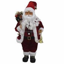 Papai Noel Em Pé Para Decoração De Natal Tradicional 30cm