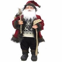 Papai Noel Em Pé Para Decoração De Natal Elegante 30cm