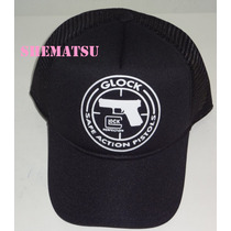 Boné Trucker Tela Glock Perfection Pistola Safe Pistols