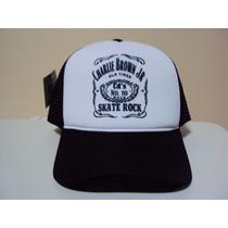 Boné Chorão Skate Rock Charlie Brown Jr Trucker Frete Grátis