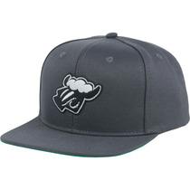 Boné Black Sheep Logo Aba Reta Snapback Cinza Chumbo