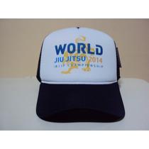 Boné Jiu Jitsu Mundial World 2014 Trucker Frete Grátis