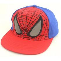 Boné Spiderman Infantil Aba Reta Homem Aranha 3a 8 Anos
