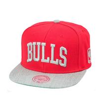 Boné Mitchell And Ness Snapback Chicago Bulls Vermelho