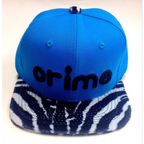 Boné Aba Reta Strapback Zebrina Zebra Oncinha Onça Azul