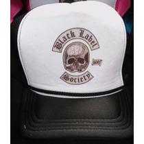 Boné Trucker Black Label Society Preto E Branco