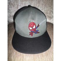Boné Spiderman Infantil Aba Reta Homem Aranha De 5 A 12 Anos