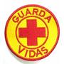 Patch Bordado Guarda Vidas - Amarelo E Vermelho Sem Velcro