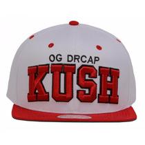 Boné New Drcap Og Drcap Kush Branco Snapback Classic Premium