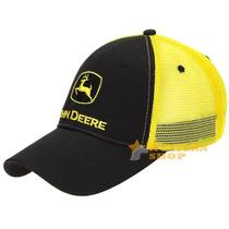 Boné John Deere Importado Preto Com Tela 9601 - Único