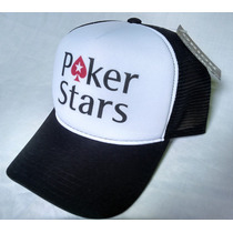Boné Poker Stars Pokerstars Trucker Original Tomflex