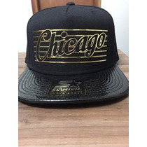 Boné Snapback Starter All Black Chicago