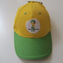 Boné Brasil Fifa Copa Do Mundo Brasil 2014 100% Oficial