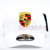 Boné Porsche Trucker Bordado Tomflex Original Marca Carros