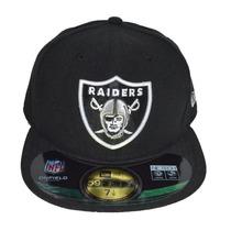 Boné New Era Aba Reta Fechado 5950 Nfl Oakland Raiders